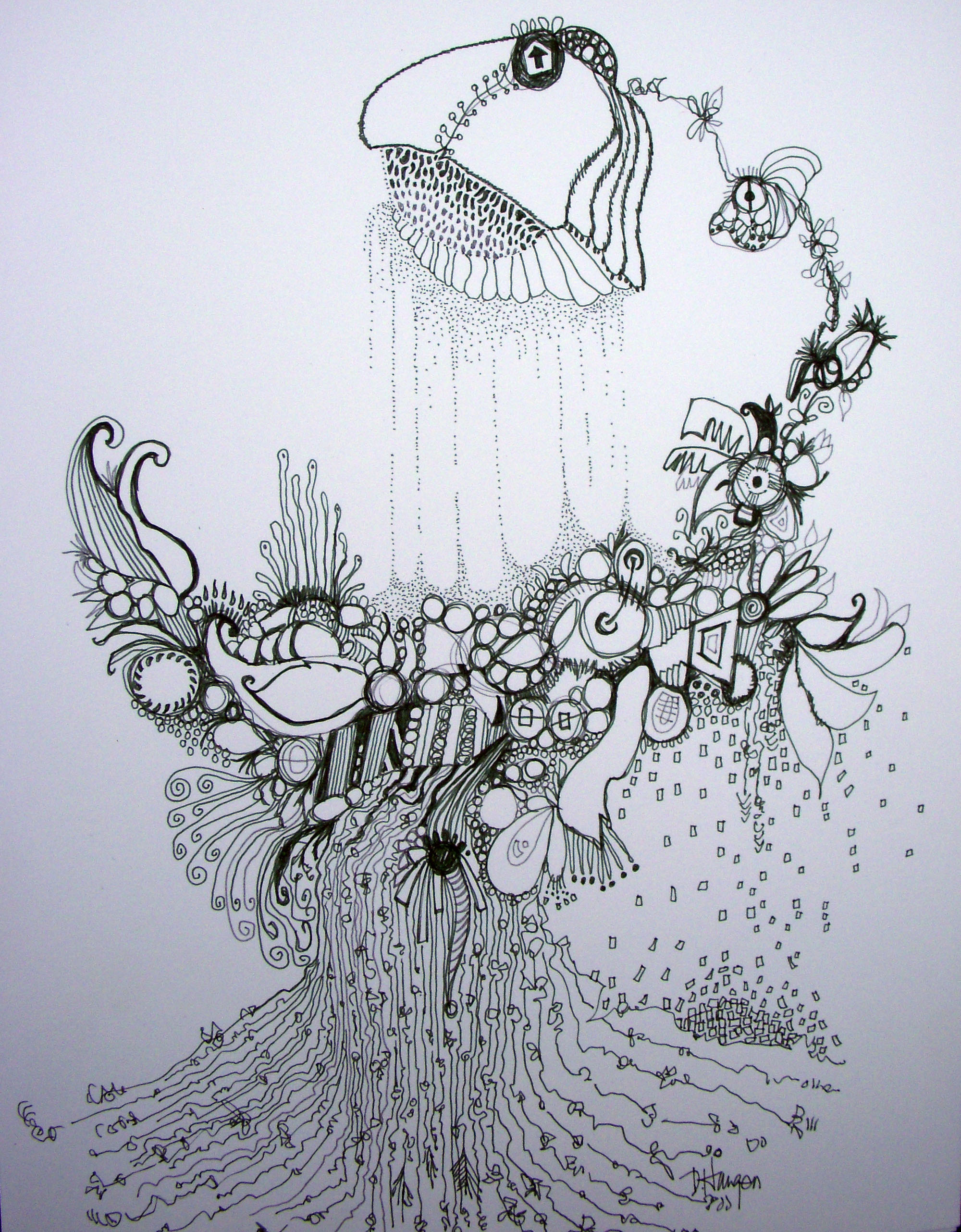 Pen And Ink 16 Organic Art Natures Own Graffiti The